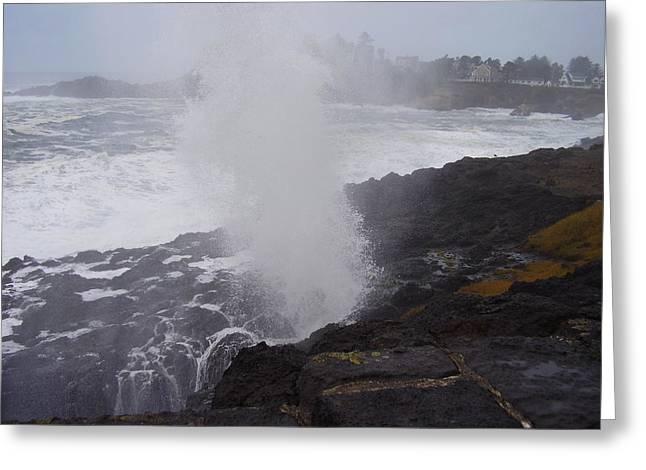Wave Blast Greeting Card by Yvette Pichette