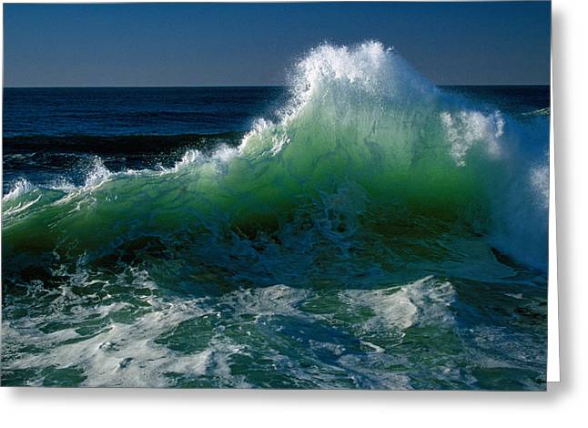 Wave Crashing On Pacific Coast, Oregon Greeting Card by Panoramic Images