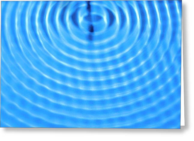 Wave Diffraction Greeting Card
