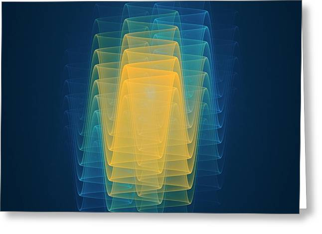 Wave Function Conceptual Artwork Greeting Card by David Parker