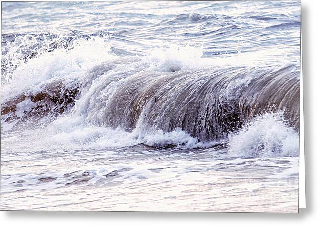 Wave In Stormy Ocean Greeting Card by Elena Elisseeva