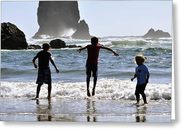 Wave Jumping 25614 Greeting Card