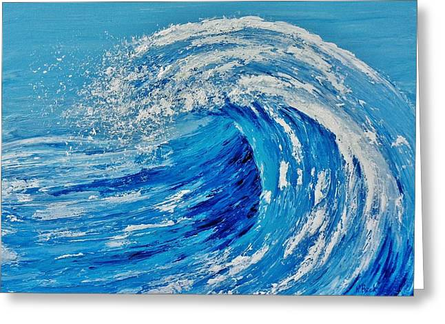 Greeting Card featuring the painting Wave by Katherine Young-Beck