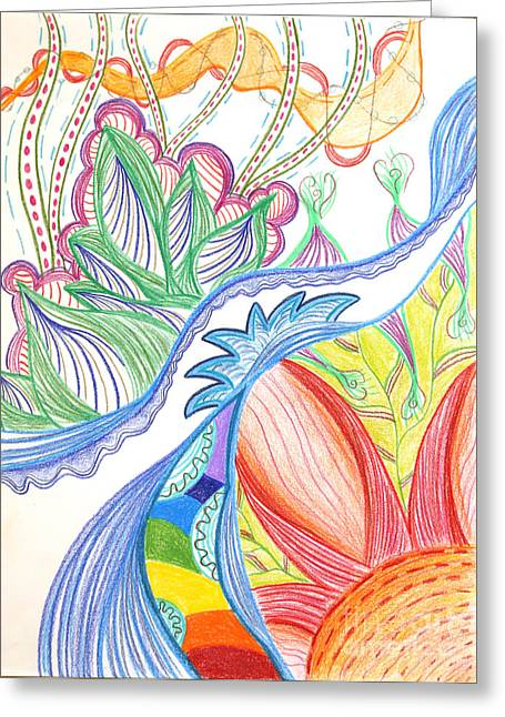 Wave Of Connection Greeting Card by Laurie Kammer