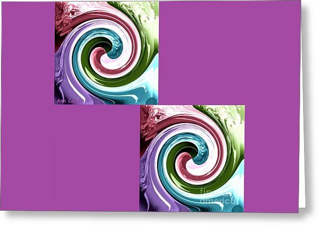Wave Of Purple Greeting Card
