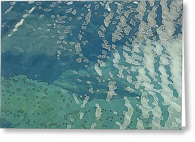 Wave Pattern 2 Greeting Card by Dietmar Fink