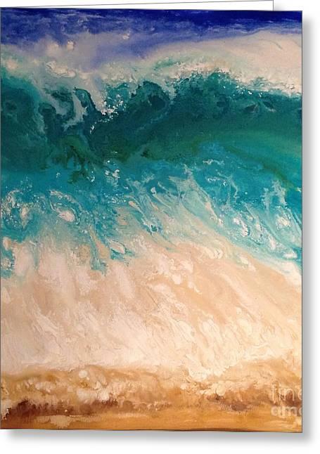 Wave Greeting Card by Patty Vicknair