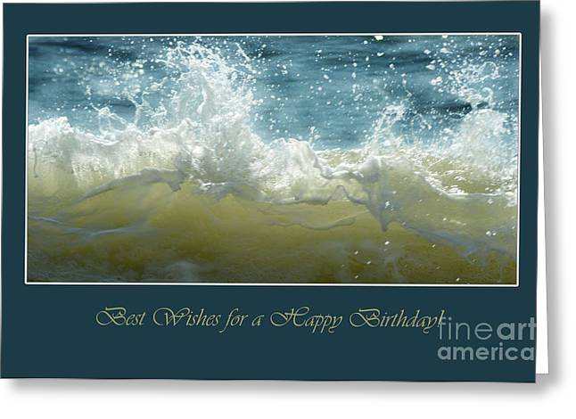 Greeting Card featuring the photograph Wave by Randi Grace Nilsberg