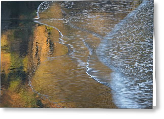 Wave Reflections 4 Greeting Card