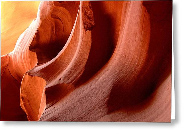 Wave Rock Forms - Upper Antelope Canyon Greeting Card by Clay and Gill Ross