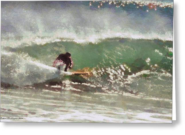 Wave Runner  Greeting Card by Richard Worthington