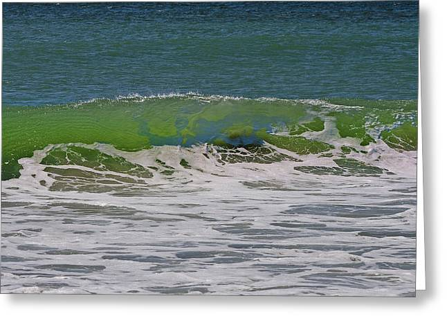 Wave Sequence 1 Of 4 Greeting Card by Betsy Knapp