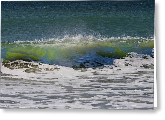 Wave Sequence 2 Of 4 Greeting Card by Betsy Knapp