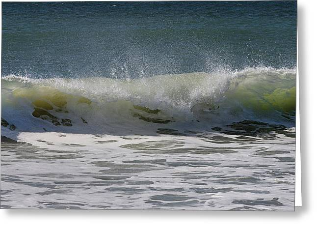 Wave Sequence 3 Of 4 Greeting Card by Betsy Knapp