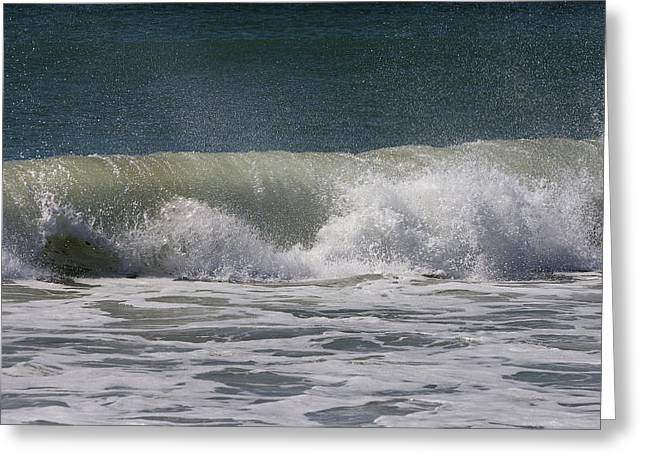 Wave Sequence 4 Of 4 Greeting Card by Betsy Knapp