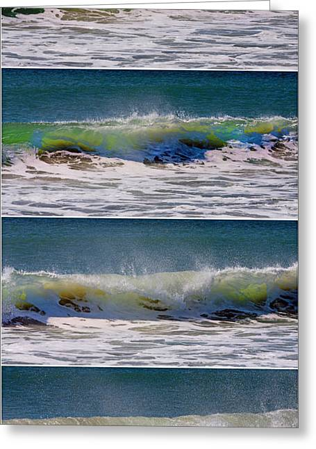 Wave Sequence Greeting Card by Betsy Knapp