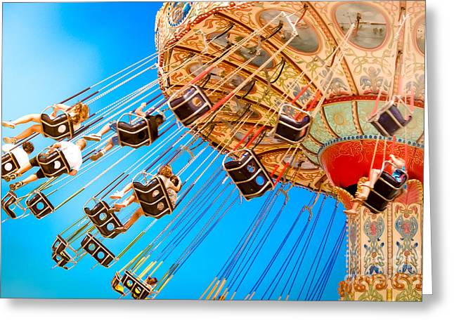 Wave Swinger  Greeting Card by Colleen Kammerer