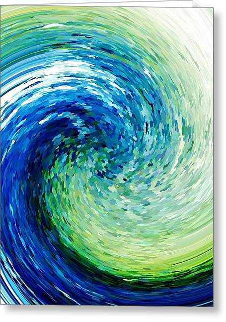Wave To Van Gogh Greeting Card