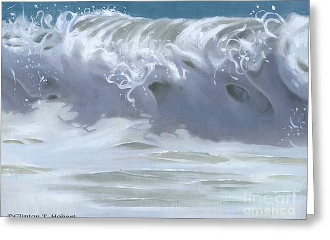 Wave Xiii Greeting Card by Clinton Hobart