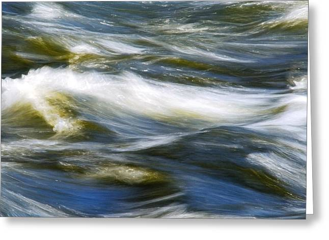 Waves Abstract Square Greeting Card