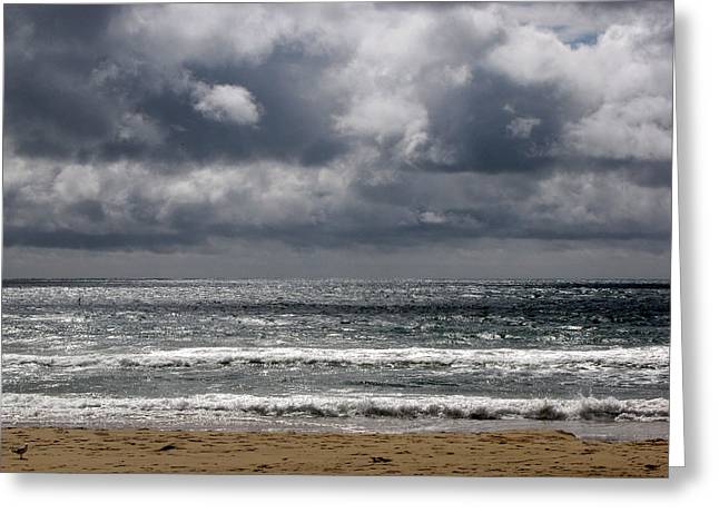 Waves And Beach Greeting Card by Karen E Phillips