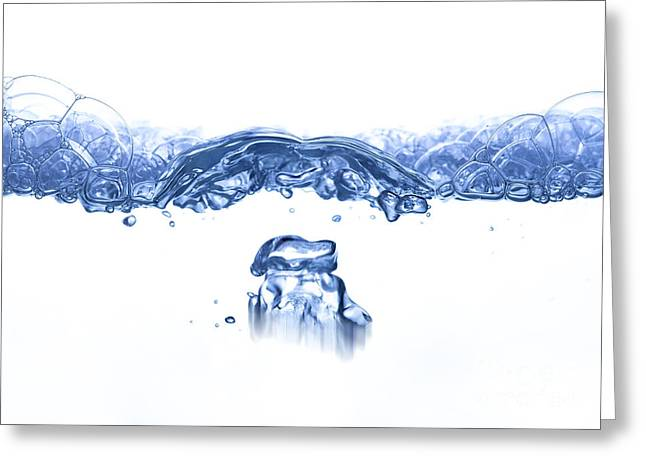 Waves And Bubbles - Rippling Surface Greeting Card by Michal Boubin