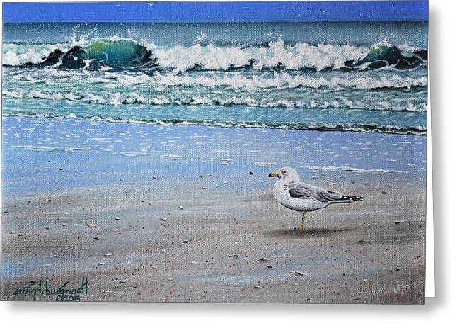 Waves And Rays Greeting Card