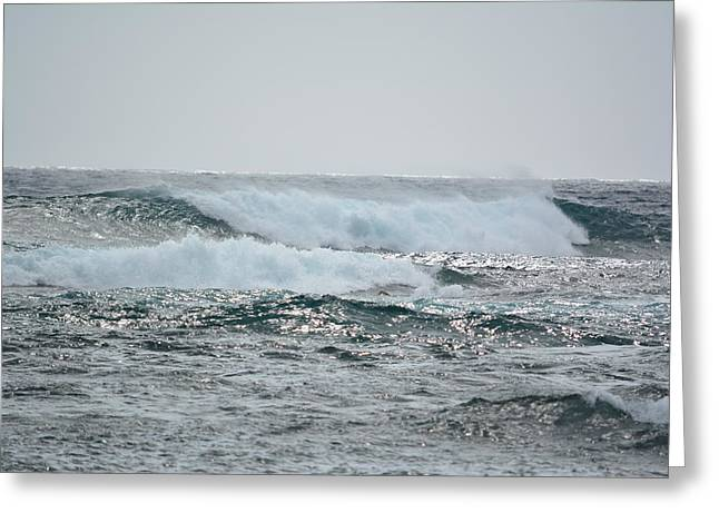Waves At Koloa Greeting Card by P S