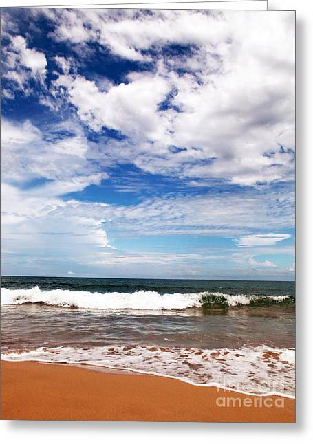 Waves At Red Frog Beach Greeting Card by John Rizzuto