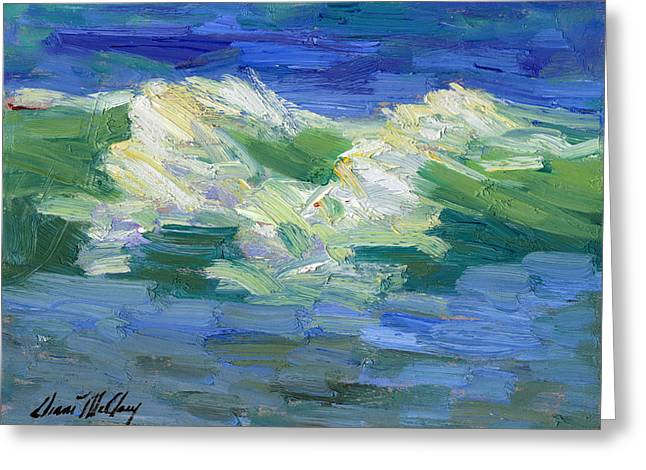 Waves At Rosarito Greeting Card by Diane McClary