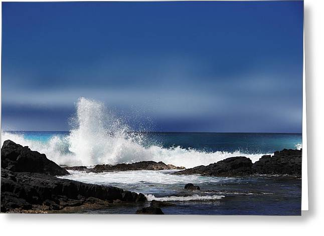Greeting Card featuring the photograph Waves by Athala Carole Bruckner
