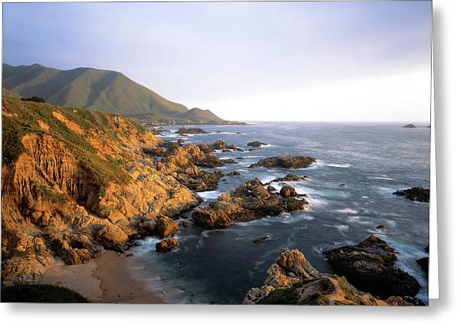 Waves Breaking On Garrapata Beach Greeting Card