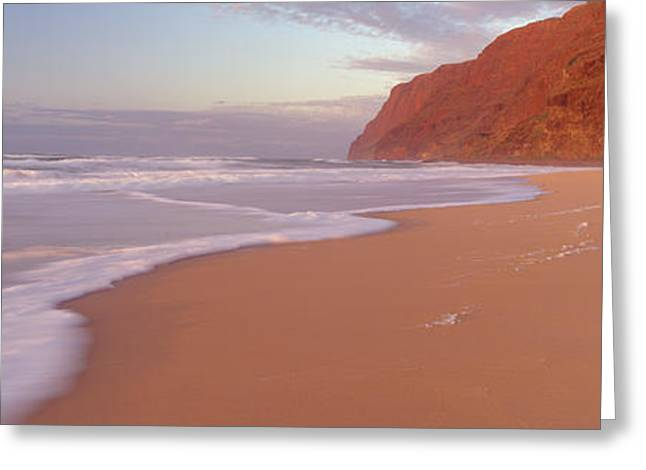 Waves Breaking On Sandy Barking Sands Greeting Card by Panoramic Images