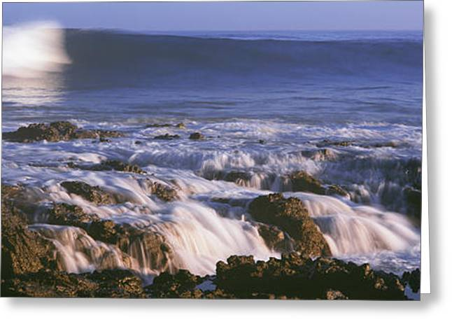Waves Breaking On The Beach, Playa Los Greeting Card by Panoramic Images