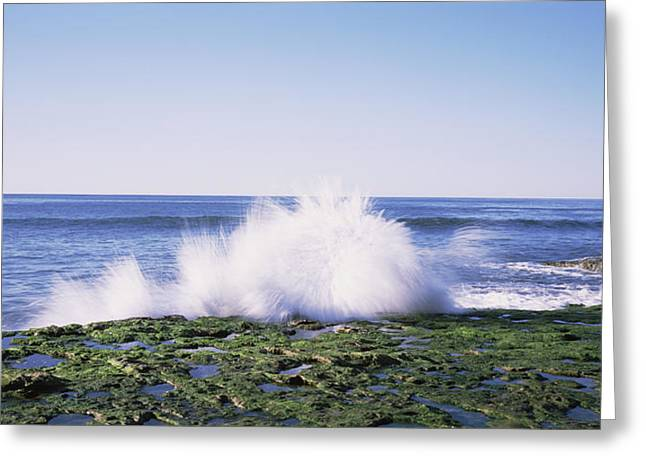 Waves Breaking The Coast, Natural Greeting Card