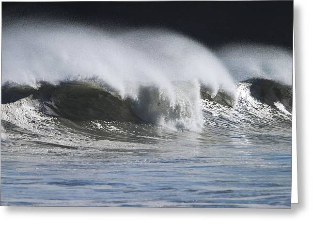 Waves Crashing On Mill Bay Beach Kodiak Greeting Card by Kevin Smith