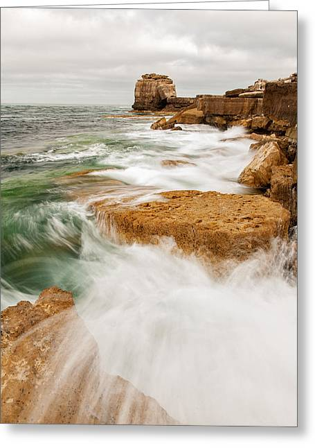 Waves Crashing Over Portland Bill Greeting Card