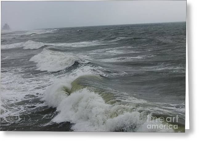 Waves  Greeting Card by Deborah DeLaBarre