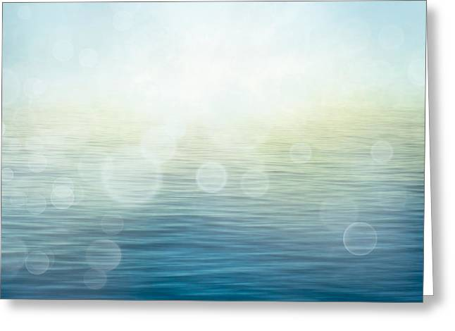 Waves In Motion Blur. Greeting Card by Mythja  Photography
