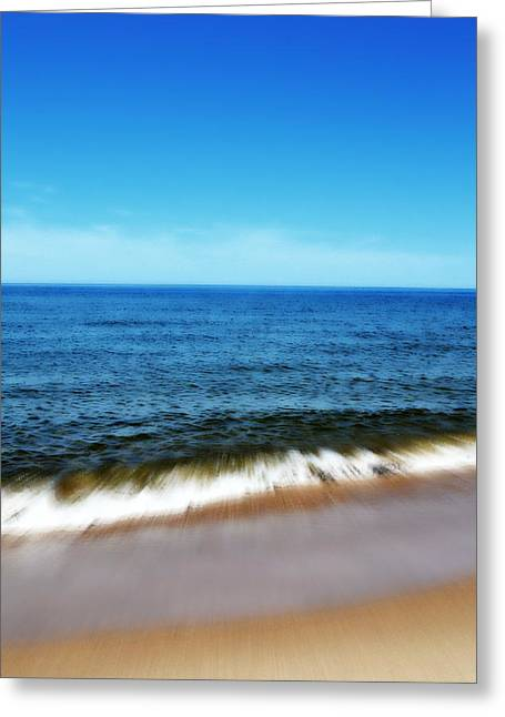 Waves In Motion Greeting Card by Michelle Calkins