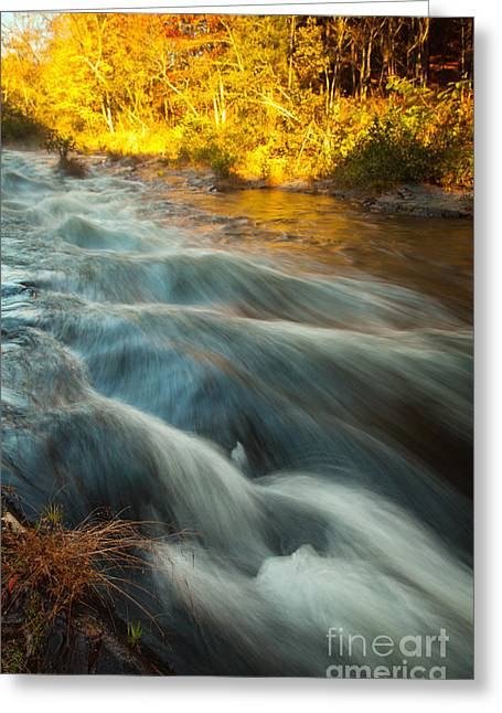 Waves In The River Greeting Card by Iris Greenwell