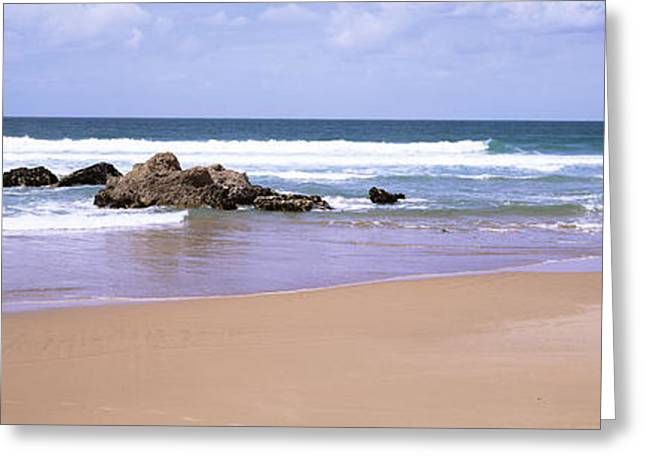Waves In The Sea, Algarve, Sagres Greeting Card by Panoramic Images
