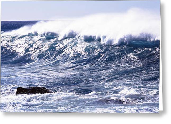 Waves In The Sea, Big Sur, California Greeting Card