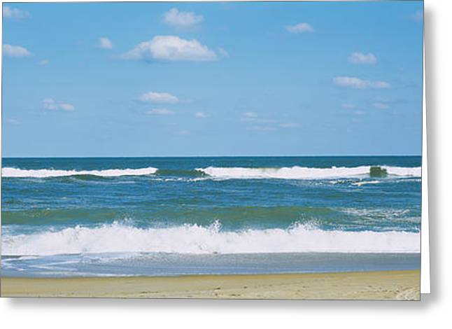 Waves In The Sea, Cape Hatteras, Outer Greeting Card by Panoramic Images