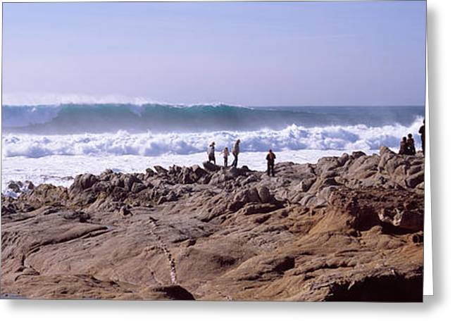Waves In The Sea, Carmel, Monterey Greeting Card by Panoramic Images