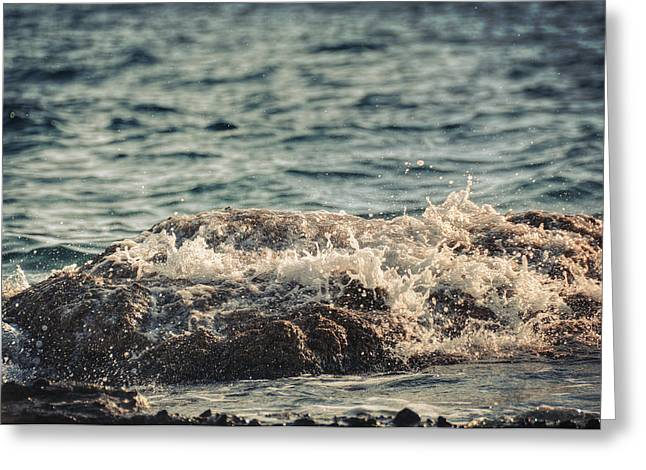 Waves In Time IIi Greeting Card by Taylan Apukovska