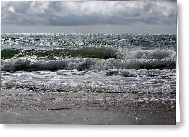 Waves Greeting Card by Karen E Phillips
