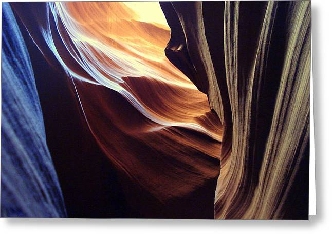 Waves Of Color Greeting Card by J Allen