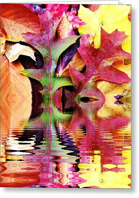 Waves Of Color Greeting Card by Judy Palkimas
