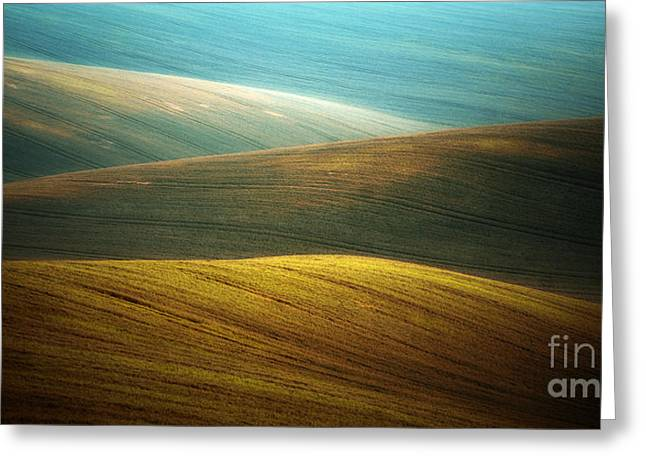 Waves Of Colours Greeting Card by Jaroslaw Blaminsky